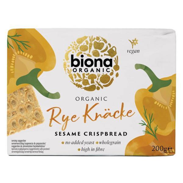 Sesame Rye Crispbread Vegan, ORGANIC