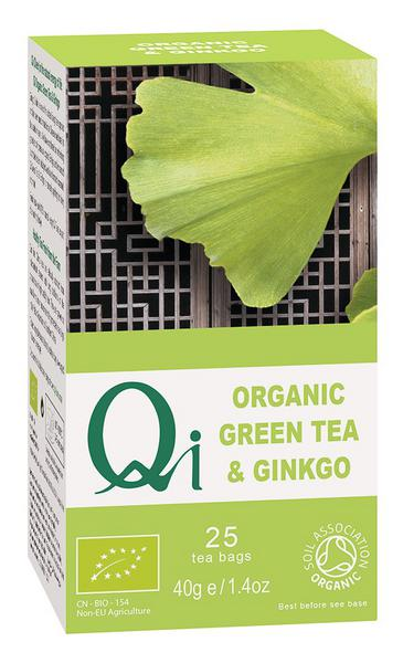 Green Tea & Ginkgo Biloba T-Bags FairTrade, ORGANIC