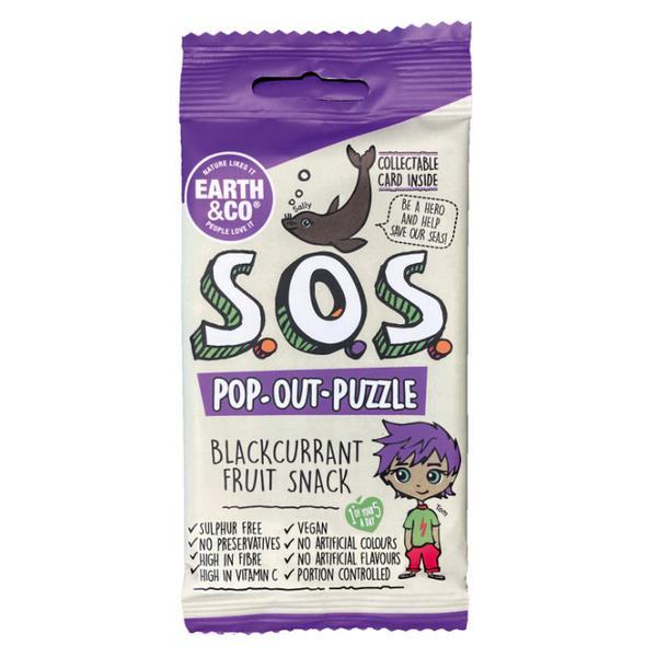 SOS Pop-Out-Puzzle Blackcurrant Fruit Snack Vegan