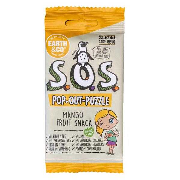 SOS Pop-Out-Puzzle Mango Fruit Snack Vegan