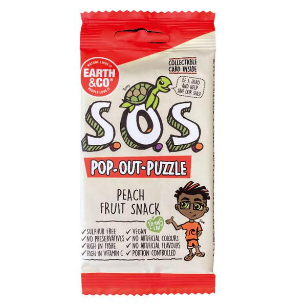 SOS Pop-Out-Puzzle Peach Fruit Snack Vegan