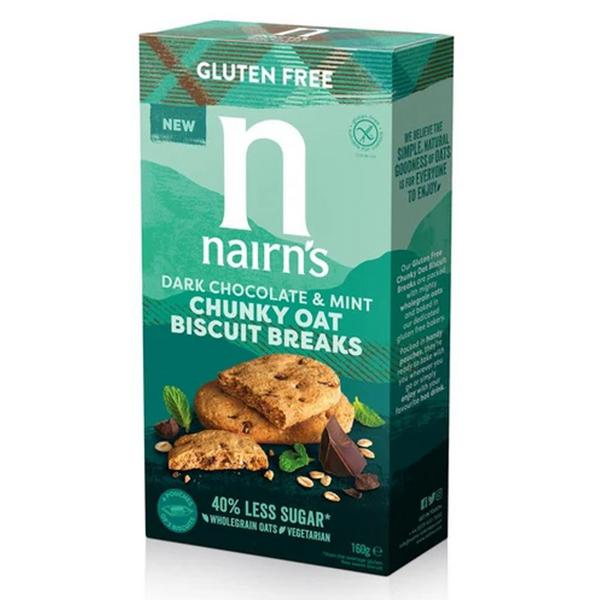 Chunky Oat Biscuits Dark Chocolate & Mint