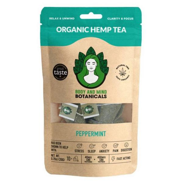 Peppermint Hemp Tea ORGANIC