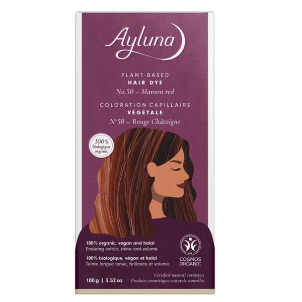 Plant-Based Hair Dye Maroon Red