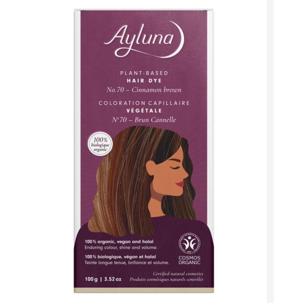 Plant-Based Hair Dye Cinnamon Brown
