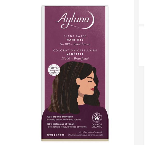 Plant-Based Black Brown Hair Dye