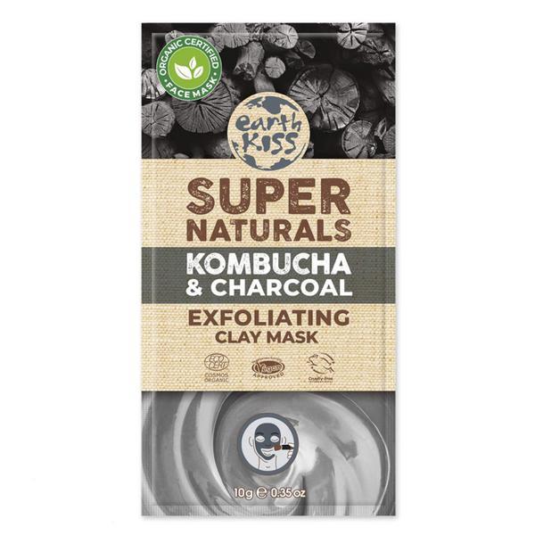 Super Naturals Exfoliating Clay Face Mask Kombucha & Charcoal