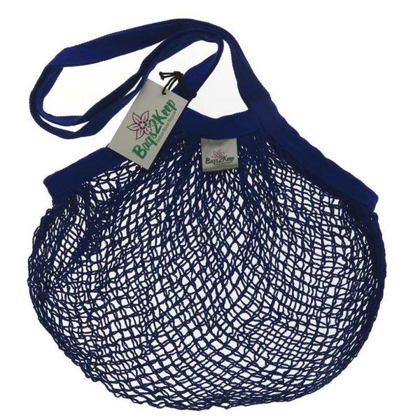String Blue Bag Cotton