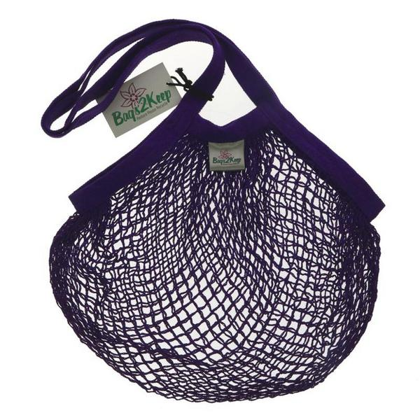 String Cotton Purple Bag