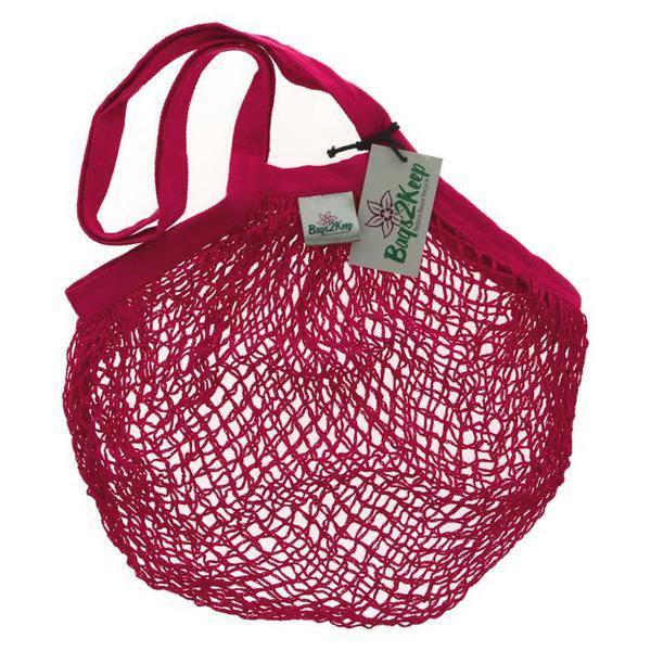 String Cotton Raspberry Bag