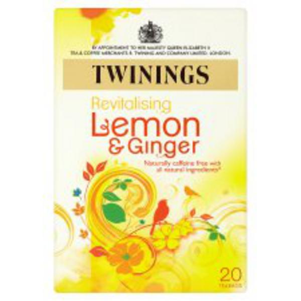 Revitalising Lemon & Ginger T-Bags