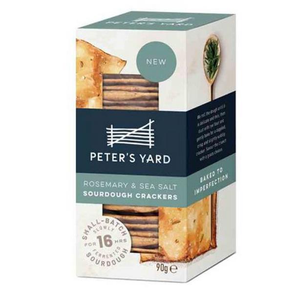 Rosemary & Sea Salt Sourdough Crackers
