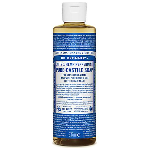 Peppermint Castile Liquid Soap Vegan, FairTrade, ORGANIC