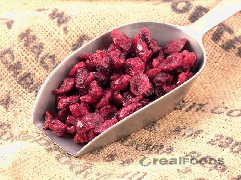 Cranberries Dried added sugar