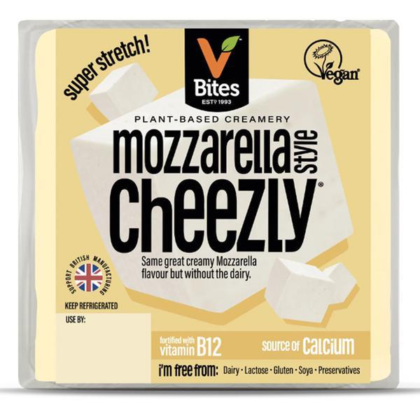 Mozzarella Style Cheezly Block Dairy Free Cheese dairy free, Vegan