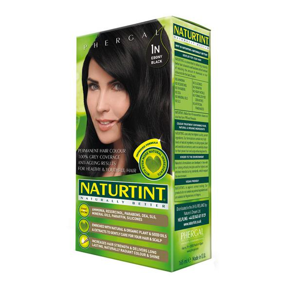 Permanent Hair Colourant Ebony Black 1N Vegan