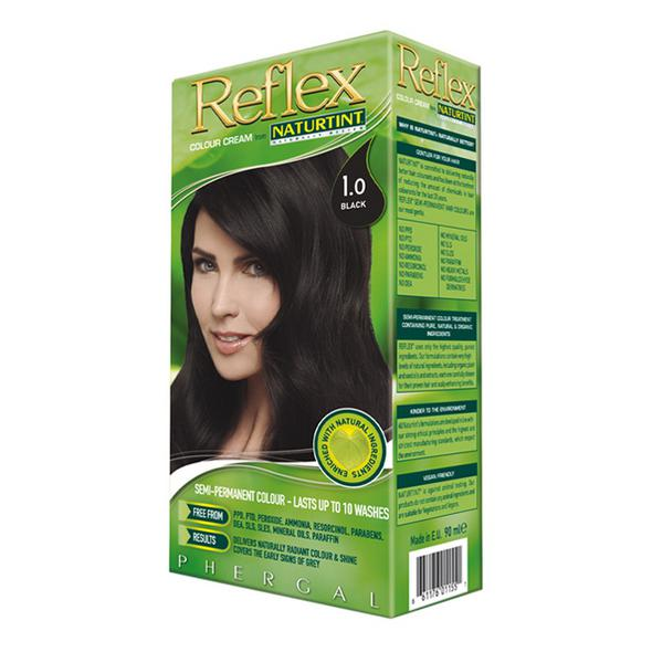 Reflex Semi Permanent Hair Colourant Black 1.0 Vegan