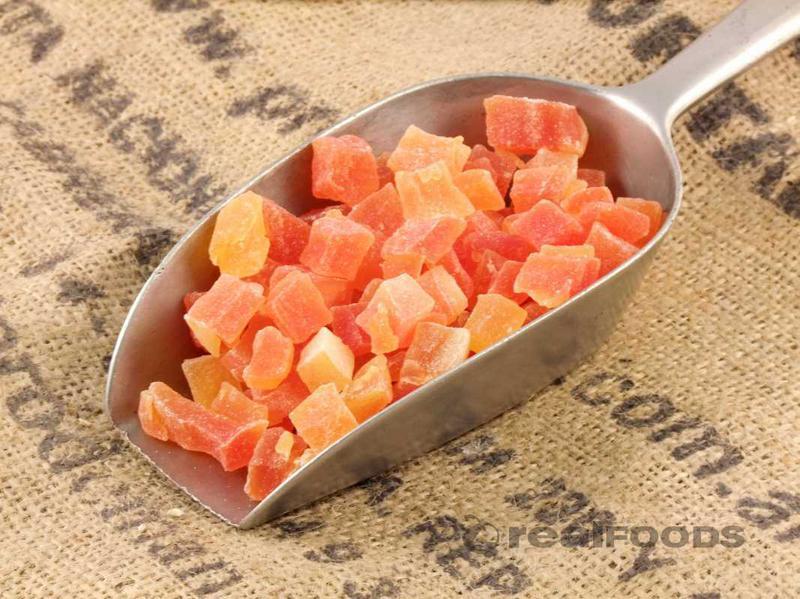 Diced Papaya with SO2 added sugar