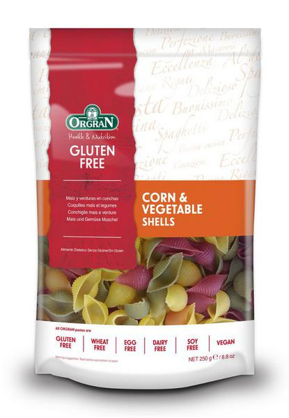 Corn & Vegetables Pasta Shells Gluten Free