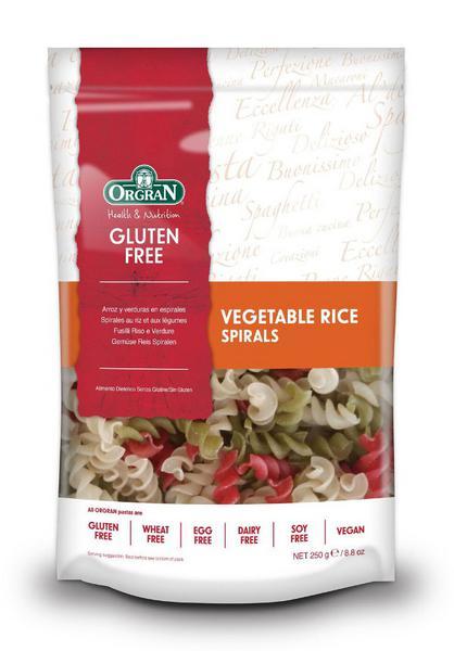 Rice Pasta Vegetable Spirals