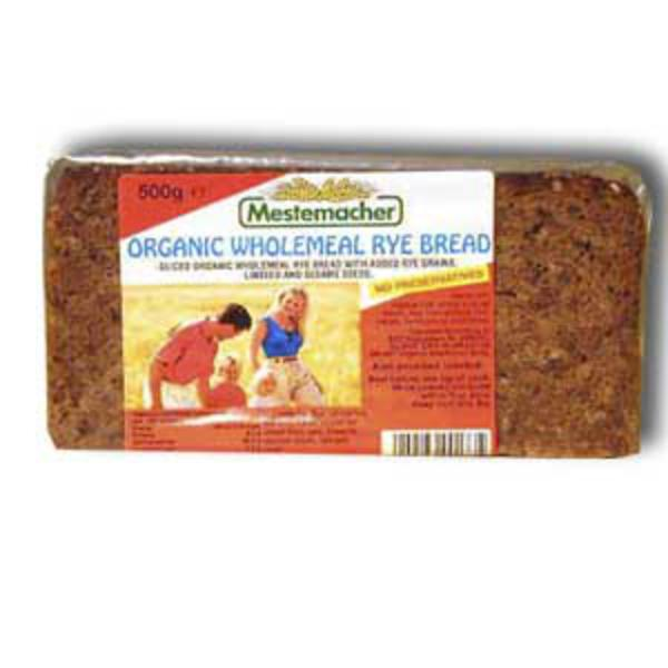 Linseed Rye Wholemeal Sliced Bread ORGANIC