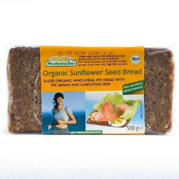 Sunflower Seed Rye Wholemeal Sliced Bread ORGANIC