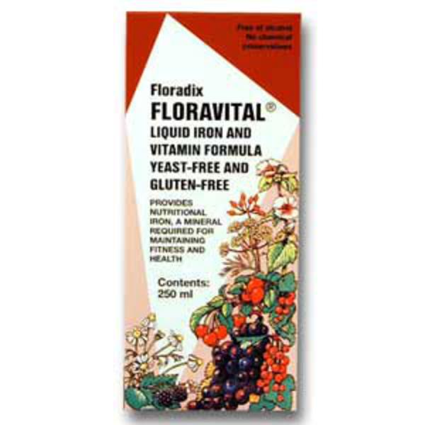Floravital Floradix Supplement Gluten Free, no added sugar, yeast free