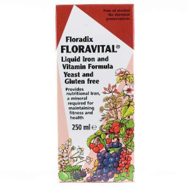 Floravital Floradix Supplement Gluten Free, no added sugar, yeast free image 2