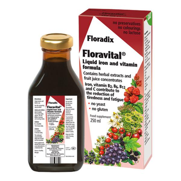 Floravital Floradix Supplement Gluten Free, yeast free