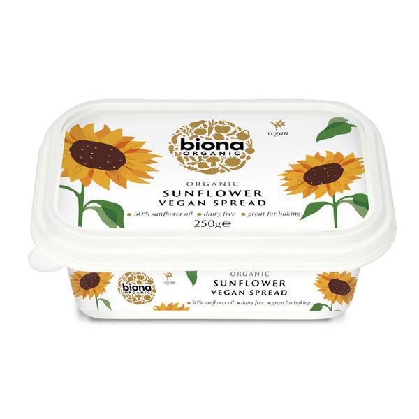 Sunflower Vegetable Margarine dairy free, ORGANIC