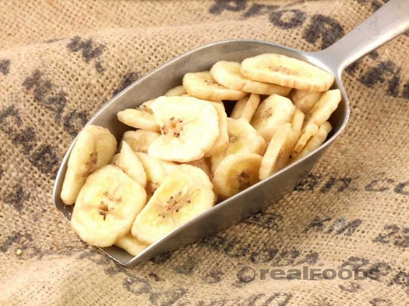 Banana Chips Sweetened No Gluten Containing Ingredients