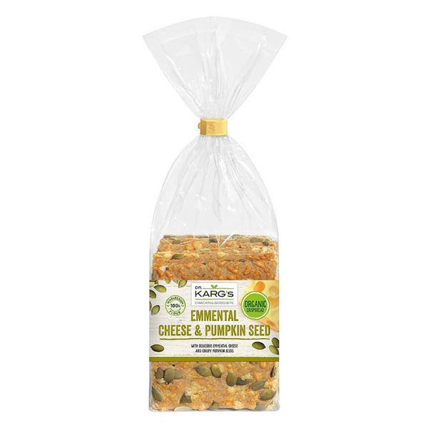 Emmental & Pumpkin Seed Crispbreads ORGANIC