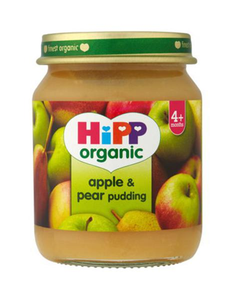 Organic Apple And Pear Pudding Baby Food In 125g Jar From Hipp