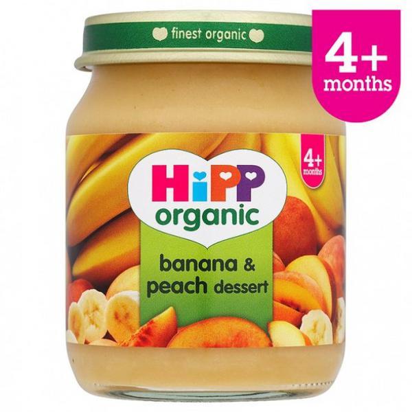 Banana & Peach Dessert Baby Food Gluten Free, Vegan, ORGANIC