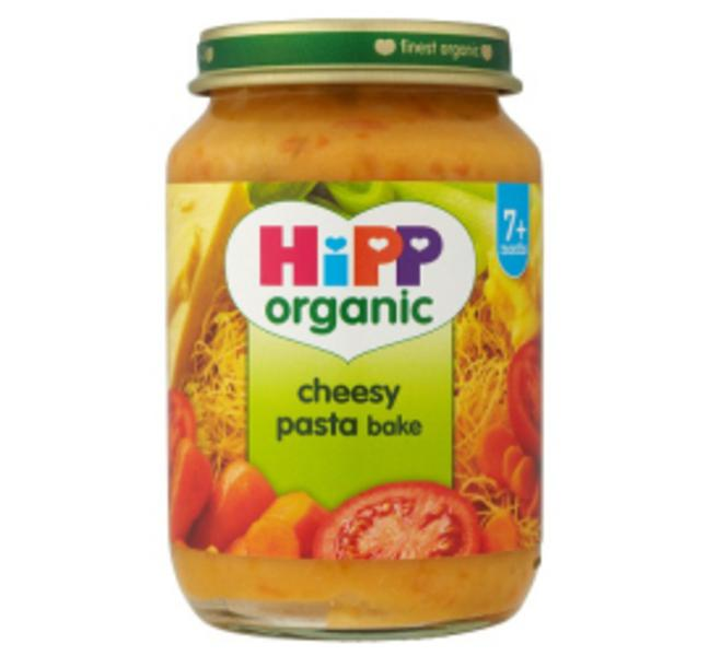organic cheesy pasta baby food in 190g jar from hipp
