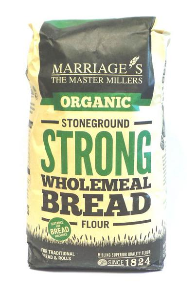Wholemeal Breadmaking Flour Stoneground Strong ORGANIC