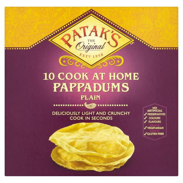 Poppadoms Plain Cook At Home In 150g From Patak