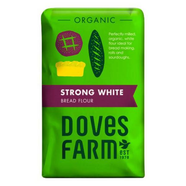 Organic White Flour Strong in 1.5kg from Doves Farm