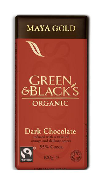 Maya Gold Orange Dark Chocolate FairTrade, ORGANIC