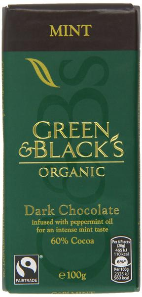 Mint Dark Chocolate FairTrade, ORGANIC