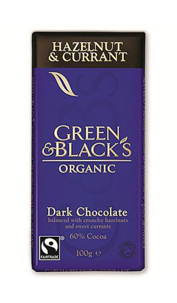 Hazelnuts & Currants Dark Chocolate 60% FairTrade, ORGANIC