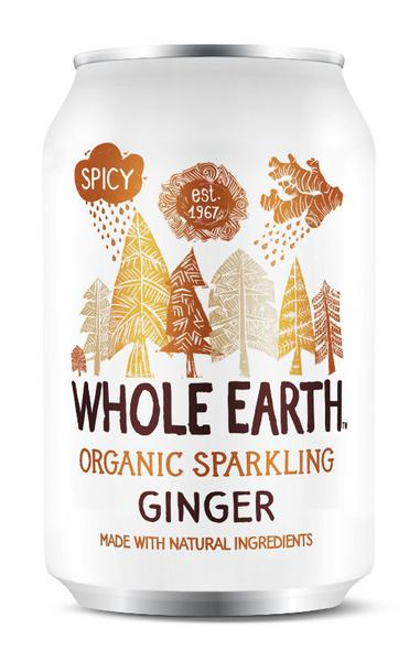 Organic Sparkling Ginger Drink In 330ml From Whole Earth
