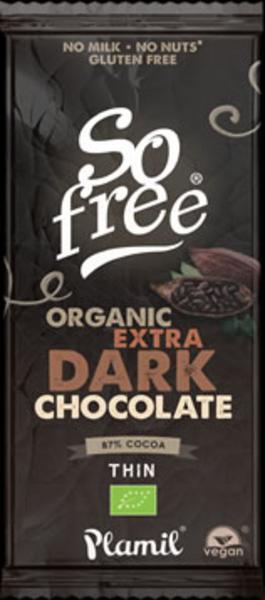 Dark Chocolate 87% Gluten Free, Vegan, ORGANIC