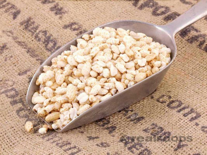 Puffed Cereal Rice No Gluten Containing Ingredients, ORGANIC