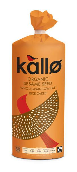 Sesame Rice Cakes Salted No Gluten Containing Ingredients, ORGANIC