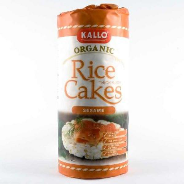 Sesame Rice Cakes Salted No Gluten Containing Ingredients, ORGANIC image 2