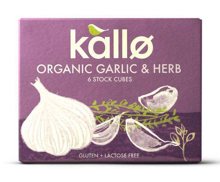 Garlic & Herb Stock Cubes Gluten Free, Vegan, ORGANIC