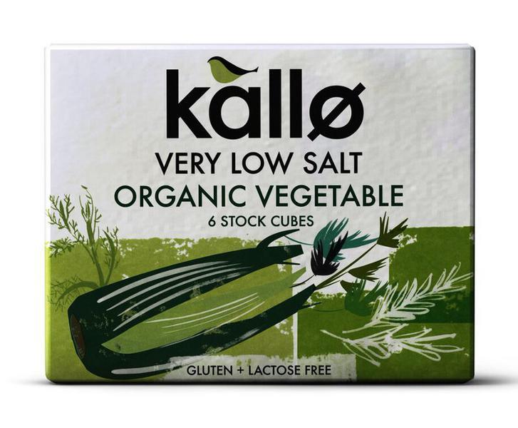 Vegetable Stock Cubes Reduced Salt Gluten Free, Vegan, ORGANIC