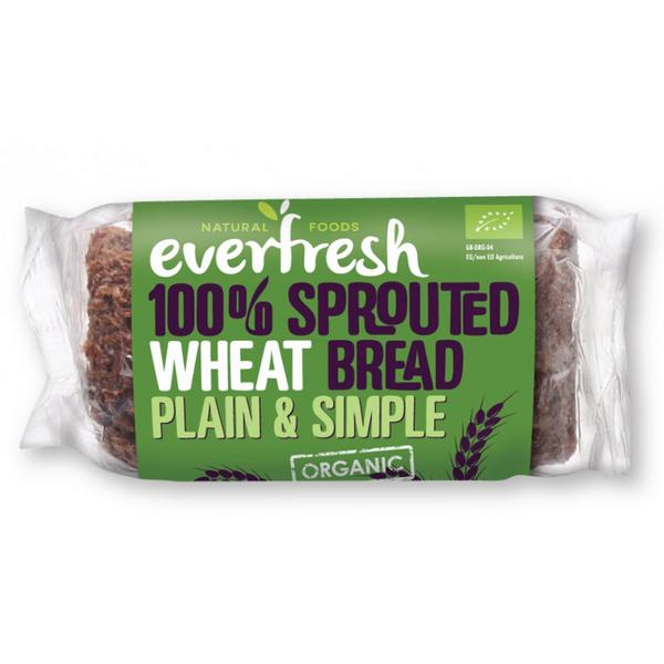 Sprouted Wheat Bread fat free, salt free, no sugar added, yeast free, ORGANIC