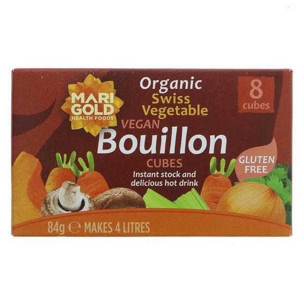 Swiss Vegetable Bouillon Stock Cubes Gluten Free, Vegan, ORGANIC